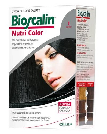 BIOSCALIN NUTRI COLOR 1 NERO SINCROB 124 ML - Farmaunclick.it