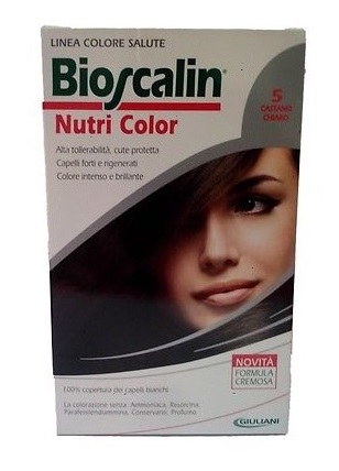 BIOSCALIN NUTRI COLOR 5 CASTANO CHIARO 124 ML - Speedyfarma.it
