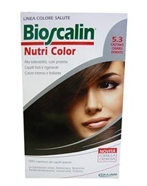 BIOSCALIN NUTRI COLOR 5,3 CASTANO CHIARO DORATO SINCROB 124 ML - Farmaunclick.it
