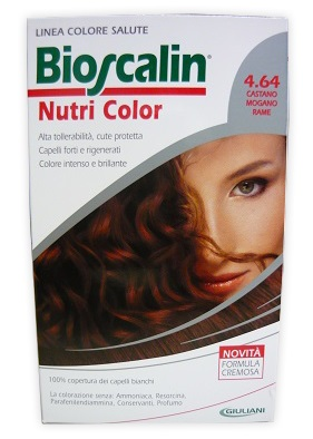 BIOSCALIN NUTRI COLOR 4,64 CASTANO MOGANO RAME 124 ML - Farmaunclick.it