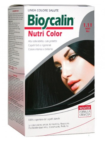 BIOSCALIN NUTRI COLOR 1,11 NERO BLU SINCROB 124 ML - Farmaunclick.it