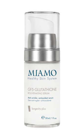 MIAMO LONGEVITY PLUS GF5-GLUTATHIONE REJUVENATING SERUM 30 ML SIERO ANTI-RUGHE ANTIOSSIDANTE - Farmajoy