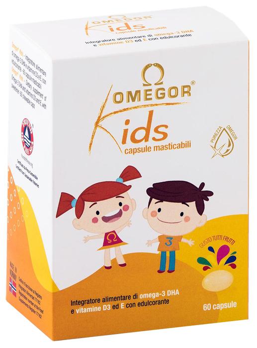 Omegor Kids Integratore dii Omega 3 e Vitamine 60 Capsule Masticabili