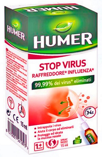 SPRAY NASALE URGO HUMER STOP VIRUS 15 ML - Farmaciacarpediem.it