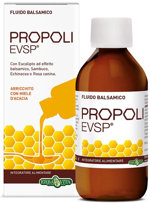 Erba Vita Propoli EVSP Fluido Balsamico Adulti e Bambini Gusto Liquirizia 200 ml