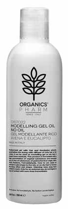 ORGANICS PHARM MODELLING GEL OIL NON OIL OAT AND EUCALYPTUS - Farmastar.it
