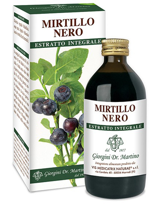 MIRTILLO NERO ESTRATTO INTEGRALE 200 ML - Farmafamily.it