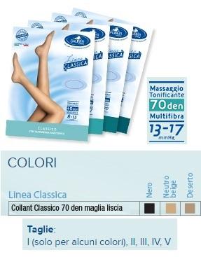 Sauber Linea Classica Collant in Maglia Liscia 70 Den Neutro Beige Taglia 2