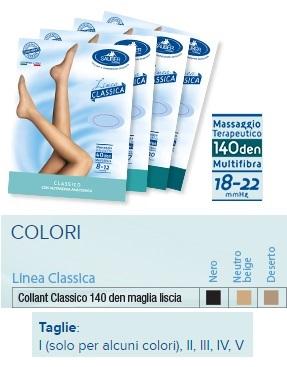 Sauber Linea Classica Collant in Maglia Liscia 140 Den Deserto Taglia 3