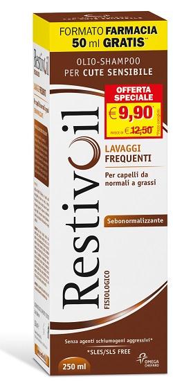 RESTIVOIL Sebo Normalizzante Capelli Normali Grassi 250 ML - Farmacielo