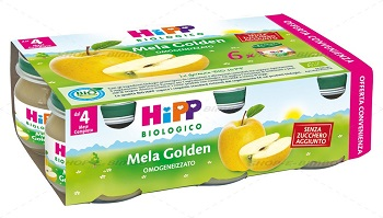 HIPP BIO OMOGENEIZZATO MELA GOLDEN 6X80 G - Farmaunclick.it