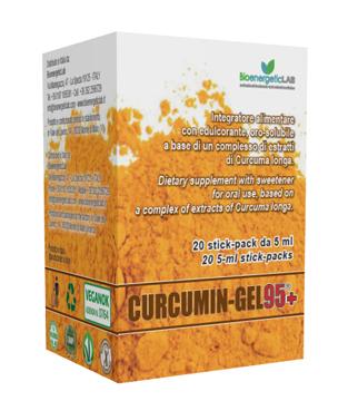 Curcumin-Gel 95 Integratore Di Curcuma Bevibile 20 Stick-Pack