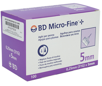 AGO PER PENNA DA INSULINA BD MICROFINE GAUGE 31 5 MM 100 PEZZI - Farmapage.it