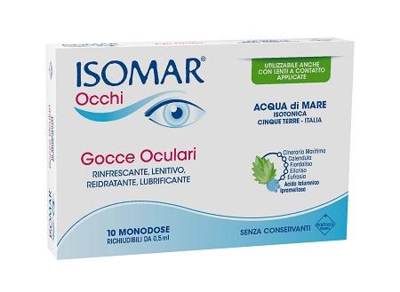 ISOMAR OCCHI GOCCE OCULARI ALL'ACIDO IALURONICO 0,20% 10 FLACONCINI - Farmabellezza.it