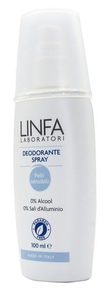 LINFA DEODORANTE SPRAY PELLI SENSIBILI 100 ML - farmasorriso.com