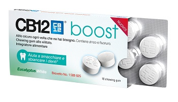CB12 BOOST EUCALYPTUS WHITE 10 CHEWING GUM - Carafarmacia.it