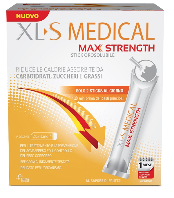 CHEFARO XLS MEDICAL MAX STRENGTH 60 STICK OROSOLUBILE - Farmaciacarpediem.it