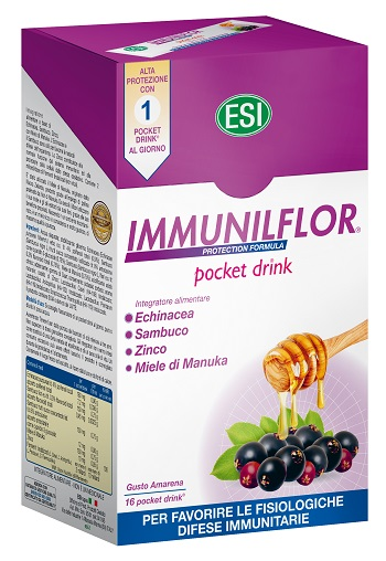 ESI IMMUNILFLOR 16 POCKET DRINK X 20 ML - Parafarmacia Tranchina