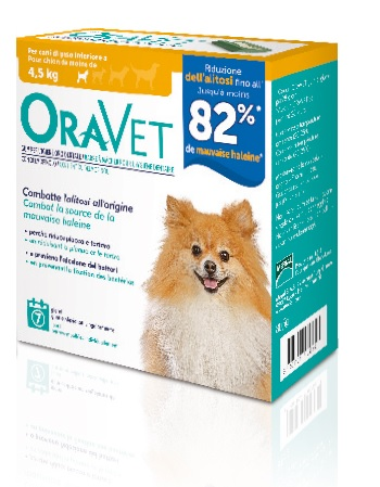 ORAVET CHEWING-GUM DOG EXTRA SMALL 7 PEZZI - Farmabenni.it