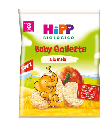 HIPP BIOLOGICO GALLETTE DI RISO MELA 30 G - Farmabellezza.it