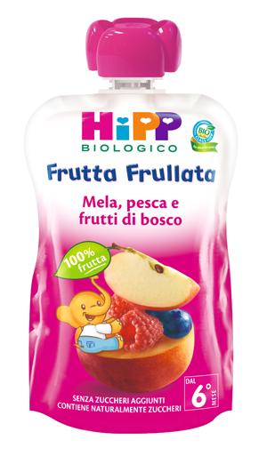 HIPP BIO FRUTTA FRULLATA MELA PESCA FRUTTI DI BOSCO 90 G - Zfarmacia