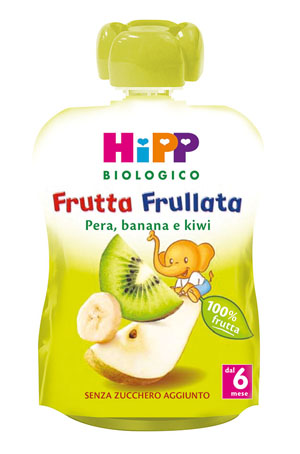 HIPP BIO FRUTTA FRULLATA PERA BANANA KIWI 90 G - Farmajoy
