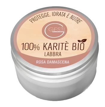 GESTI 100% KARITE' BIO 10 ML ROSA DAMASCENA LABBRA - Farmastar.it