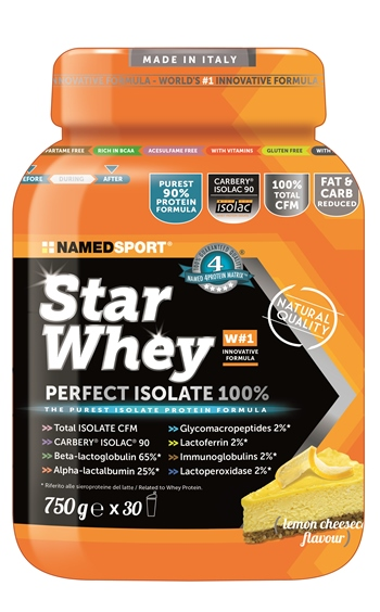 STAR WHEY ISOLATE LEMON CHEESECAKE 750 G - Farmabellezza.it