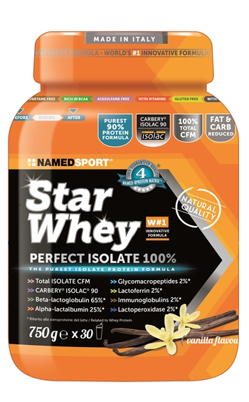 STAR WHEY ISOLATE VANILLA 750 G - Spacefarma.it