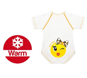 BODY 0 36 M CALDO COTONE WARM BABY SMILE FIOCCHETTINA - Farmastar.it
