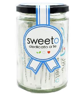 SWEETO 40 STICKS 120 G DOLCIFICANTE A BASE DI ERITRITOLO ED ESTRATTO DI STEVIA REBAUDIANA - Farmaunclick.it