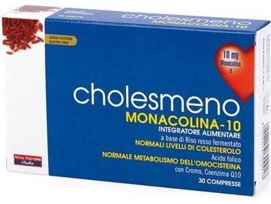 CHOLESMENO MONACOLINA 10 30 COMPRESSE 30 G - FARMAEMPORIO