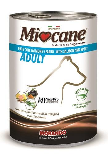 MIOCANE PATE' SALMONE E FARRO - Farmaci.me
