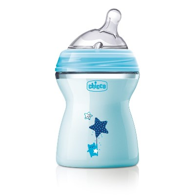 CHICCO BIBERON NATFEEL 2M+ BOY 250 ML - Farmastop