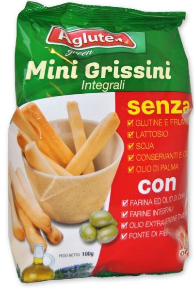 AGLUTEN MINI GRISSINI INTEGRALI 100 G