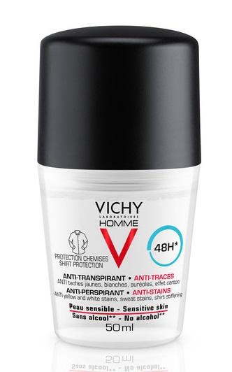 VICHY HOMME DEO ANTI-MACCHIE 50 ML - Farmajoy