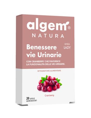 ALGEM LADY BENESSERE VIE URINARIE 20 CAPSULE 710 MG - Farmacia Centrale Dr. Monteleone Adriano