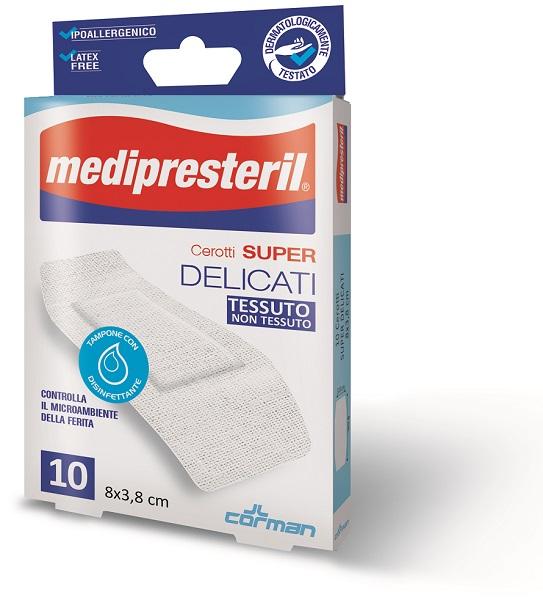 MEDIPRESTERIL CEROTTI DELICATI SUPER 8 X 3,8 10 PEZZI - Farmacia 33