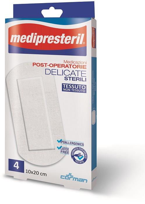 MEDIPRESTERIL MEDICAZIONI POST OPERATORIE DELICATE 10 X 20 4 PEZZI - Farmacia Basso