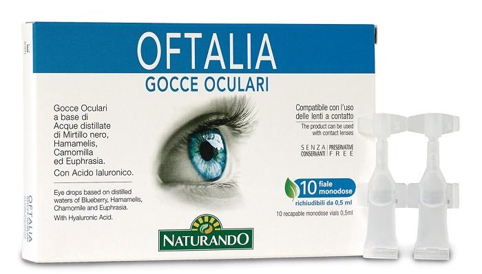 OFTALIA GOCCE OCULARI MONODOSE 2 STRIP DA 5 FIALE DA 0,5 ML - Farmastar.it
