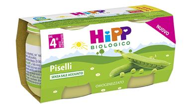 HIPP OMOGENEIZZATO PISELLI 2X80 G - Farmacia Castel del Monte