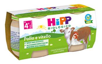 HIPP BIO HIPP BIO OMOGENEIZZATO POLLO VITELLO 2X80 G - Farmabellezza.it