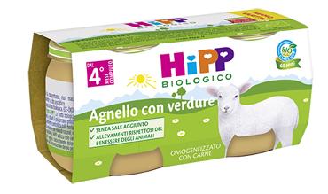 HIPP BIO OMOGENEIZZATO AGNELLO CON VERDURE 2X80 G - Farmabaleno