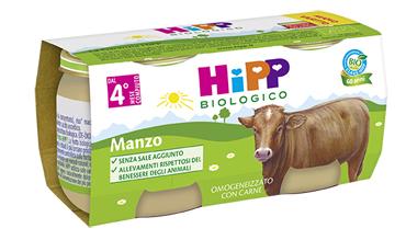HIPP BIO HIPP BIO OMOGENEIZZATO MANZO 2X80 G - farmaciafalquigolfoparadiso.it