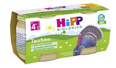HIPP BIO HIPP BIO OMOGENEIZZATO TACCHINO 2X80 G - Farmafamily.it
