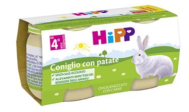 HIPP BIO OMOGENEIZZATO CONIGLIO CON PATATE 2X80 G - Farmafamily.it