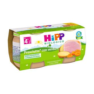 HIPP BIO HIPP BIO OMOGENEIZZATO PROSCIUTTO CON VERDURE 2X80 G - Farmacia Castel del Monte