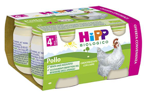 HIPP BIO HIPP BIO OMOGENEIZZATO POLLO 4X80 G - Farmacia 33