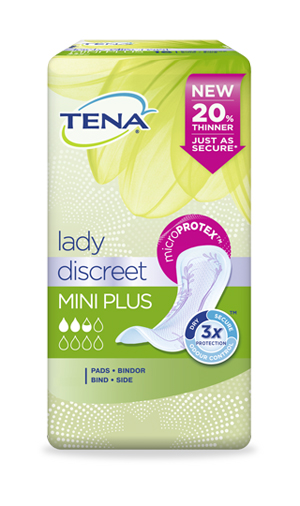 PANNOLONE SAGOMATO TENA LADY DISCREET MINI PLUS 16 PEZZI - Farmabros.it