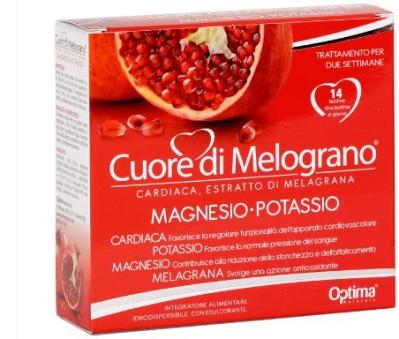 CUORE DI MELOGRANO MAGNESIO-POTASSIO 14 BUSTINE DA 3,7 G - Farmastop